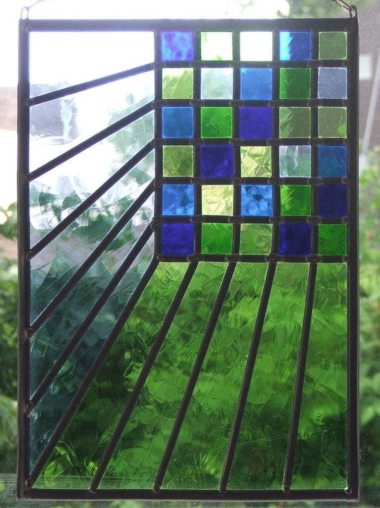 Fonkelnieuw Glas in Lood raamhanger tweeper – WenT Glasatelier OR-85